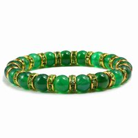 Charm Natural Chalcedony Beads Bracelet Shine Crystal Handmade Beaded Bracelets Bangles Men Women Lucky Luxury Jewelry Designers Beaded, Str