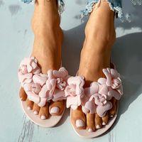 Fashion Flower Women's Flip Flops Women Casual Summer Slides Slippers Ladies Flat Slip On Beach Shoes Zapatos De Mujer Sandals