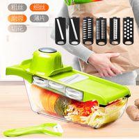 party mandolin slicer vegetable knife and tool stainless steel blade kitchen fruit manual potato peeler carrot shredder dicing 1342 V2