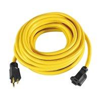 Kablo Fiş Akıllı Güç Kaynağı 25ft Orta-Görev Açık Uzatma Kablosu Sarı