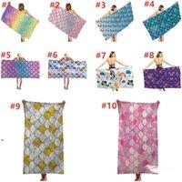 Fashionable outdoor swimming bath towel Mermaid Beach Towel creative printing sunscreen shawl quick drying towels 70*35CM DWD8936