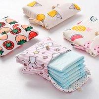 Sacs de rangement de serviettes hygiéniques mignons Sacs de rangement en coton Pays de coton Bijoux Bijoux Organisateur Pochette Coque Sac