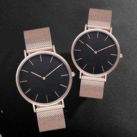 2021 3A Top Brands Enviar Relojes de marca de regalo original para hombres y mujeres Cinturón de malla de acero inoxidable de alta calidad Pareja simple 40mm36m32mm Ropa de hombre de alta gama