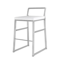Luxury Simple Pure white Furniture Metal PU Barstool Hollow out Backrest Durable Chair for Bar Home Shop Office restaurant
