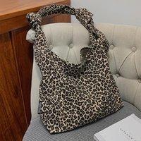 Evening Bags Fashion Leopard Pattern Nylon Material Shoulder For Women 2021 Designer Handbags Top-handle Large Capacity Tote Bag