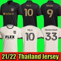 2021 Los Angeles Mens FC Soccer Jerseys LaFC Rossi Vela Home Black Away La Galaxy Camicia da calcio Benedizione Diomanda manica corta