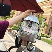 Ins Hot Laser Fashion Backpack for Women Mini Double Should Bag for Girs Ladies Students Shopping Outdoor Travel Bag