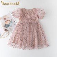 Bärleiter Mädchen Polka Dot Mesh Kleider 2021 Sommer für Baby Prinzessin Kleid Kinder Casual Kleidung Süße Vestidos 3 7Y Mädchen's