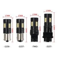 1X Car Led Light Bulb Canbus T25 3157 1156 BA15S 1157 P21 5W BAY15D Auto Parking Lights 3030 21SMD Reversing Lamp White Red 12V