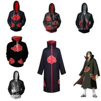 Anime Hapyto Akatsuki Uchiha Itachi Costume Cloak Hoodie Cosplay Men and Women Casual Sports Sweater Clothing