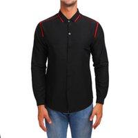 Мужские повседневные рубашки VVTS Youth Slim Личность Мода Контрастная отделка Пороговая рубашка с длинными рукавами Умные Топы Сплошной Цвет
