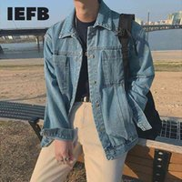 IEFB Denim Jacket Men's Loose Korean Fashion Work Clothes Jackets Casual Spring Denim Coat Clothes For Male Big Size 9Y4290 210524