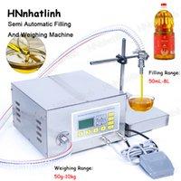 QH-G63A 8L / MIN 세미 자동 충전 기계 기어 펌프 윤활 유압 오일 병 단일 헤드 필러 220V / 110V 50G-10KG