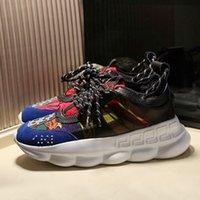 Designer Chainer Tempo libero Sneakers 1.0 Catena di reazione Altezza Aumento Scarpe Casual Moda uomo Uomo Donna Paia di lusso Vecchio Dad Boots Stivali da papà Classic Platform Shoe