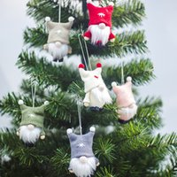 Christmas Decorations Ins Wind Woolen Faceless Doll Pendant Cute Xmas Ornaments New Year 2022 For Home And Party Kids Children Gift Merry Navidad