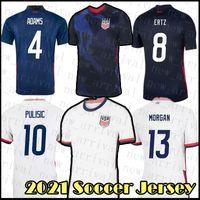21 22 Futbol Jersey Amerika Birleşik Devletleri Futbol Gömlek Pulisic Reyna Erkekler Adams Üniforma McKennie Dest Lletge Musah Weah Yedlin Morris Sargent Şampanya