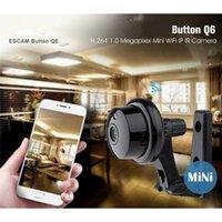 Mini Câmeras Q6 1,0MP 720P Botão Camera sem fio WiFi Voz bidirecional Indoor IR-Cut Vision Night Vision CCTV Home Security IP