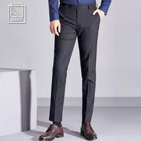 Men's Suits & Blazers ICPANS Suit Pants Men Office Business Male Trousers Formal Slim Black Regular Dress Plus Size 2021