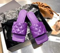 2021 Высочайшее качество Женщина Лидо Сандалии квадратный носок Высокие каблуки Open-Toe сплетенные Плоские тапочки Дизайнер Летний Все-матч Стилист Обувь каблука 9см