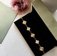 Crystal Four Leaf Clover Braclets Bangle Love Love Chame Diamond Jewelry для женщин Девушки роскоши дизайнерские украшения