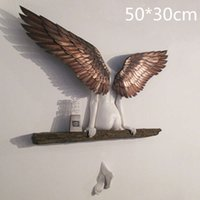 50 cm 3D vintage creatività angelo arte scultura della parete soggiorno camera da letto soggiorno accessori alloggio ambienti interni immagini interne