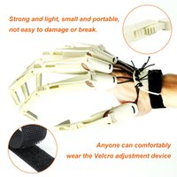 Halloween Articulated Fingers Festival Party Supplies White Metal Cosplay Accessories Extension Gloves Claws Extender Wearable Scary Bones Claw Wholesale A02