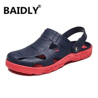 Sandals Men Beach Summer Breathable Jelly Slippers Casual Comfortable Rubber Outdoor Fashion Thick Sole Shoes