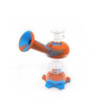 BONG de silicone amovible Bong avec percolateur Brownah Glass Bongs DAB Plateaux Fumer Accessoires Shisha