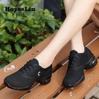 Hoyeeelin 현대 재즈 댄스 스니커즈 여성 통기성 메쉬 레이스 업 댄스 연습 신발 쿠션 경량 피트니스 트레이너 210804
