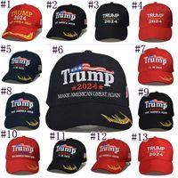2024 Trump Baseball Cap Usa Présidentielle Election Style Chapeaux Gardez l'Amérique Grande Ballon de queue de cheval JJA54