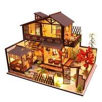 CuteBee أطفال اللعب دمية منزل أثاث تجميع خشبي مصغرة دمية diy دمية لغز ألعاب تعليمية للأطفال P2 Y200704