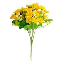 28HEAD 인공 실크 꽃 데이지 무리 웨딩 홈 무덤 야외 꽃다발 장식 꽃
