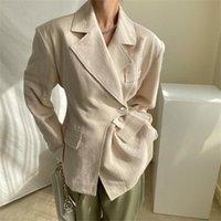Women's Suits & Blazers Harajuku Chic Irregular Solid Femme Fashion Slim Work Wear Office Lady Business Elegant OL Autumn Coats