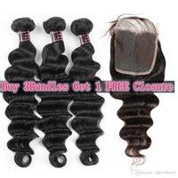 Ishow ربيع مبيعات كبيرة الترويج البرازيلي بيرو الشعر البشري حزم فضفاض عميق شراء 3 قطع الحصول على إغلاق مجاني