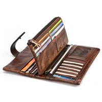 Wallets Long Wallet Retro-Colored Leather Cowhide Fashion Male's Stitched Casual Multi Card Holder Men'S RIFD For Man 8025