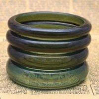 Pulseira verde piezoelétrico cristal pedra multi-cor pulgles mulheres mão pulseira jóias casal