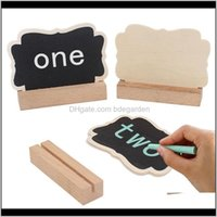 Other Festive Supplies Home & Garden Drop Delivery 2021 Wood Mini Chalkboard Place Holders Name Cards With Easel Stand For Wedding Birthday P