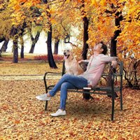 미국 주식 공원 가든 벤치 현관 경로 의자 야외 데크 철 프레임 검은 조립 쉽게