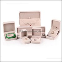 & Jewelrybeige Color Boxes For Bracelet Bangle Earring Stud Pendant Necklace Ring Packaging Veet Case Jewelry Display Decor Drop Delivery 20