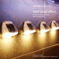 Güneş Lambaları 2 ADET Su Geçirmez LED Lamba Aplik Sensörü Duvar Işık Güç Dağı Açık Sıcak Beyaz Bahçe Yard Çit
