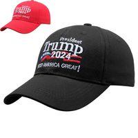 Black Broderie rouge Boucle de baseball Cap Cap de Basque de baseball de Donald Trump Gardez l'Amérique Great Great US PRÉSIDIALE CAP TRUMP Sports de plein air réglable