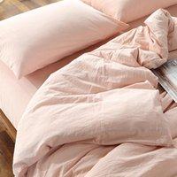 Set di biancheria da letto 100% cotone biancheria da letto super morbido bedclothes custodia da copriletto rosa piumino rosa pillowcase consolatore lavato