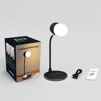 Portable 3 in 1 L4 LED desk lamp bluetooth speaker USB charging with wireless charger table light Smart Touch Dimmer lighting phone chargers for home