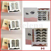 Magnetic Liquid Eyeliner False Eyelashes & Tweezer Magnet Ey...