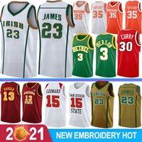 LeBron 23 James Ncaa College Basketball Jerseys Kawhi 15 Leonard Wade Allen 3 Iverson Davidson Wildcats Stephen 30 Curry Texas University Kevin 35 DURANT S-XXL