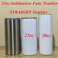 22oz Sublimation Fatty Tumbler With Lid Stainless Steel Stra...