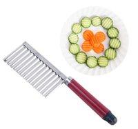 300 pcs batata ruga ondulado faca de aço inoxidável cozinha gadget vegetal frutas corte fatiadores