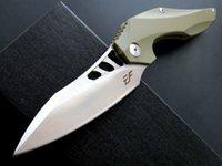 Promozione Acciaio freddo di alta qualità HY217 EF DA44 Coltelli sopravvivenza D2 Blade Pocket Knife Pieghevole 22cm Camping G10 Maniglia Farfalla