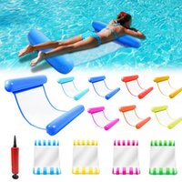 New Water Hammock Recliner Inflatable Floating Swimming Mattress Sea Swimming Ring Pool Party Toy Lounge Bed For Swimming