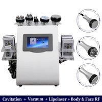 US plug 2020 Hot Product 6 in 1 Vacuum Laser Radio Frequency RF 40K Cavi Lipo Slimming Ultrasonic Liposuction Cavitation Machine For Spa